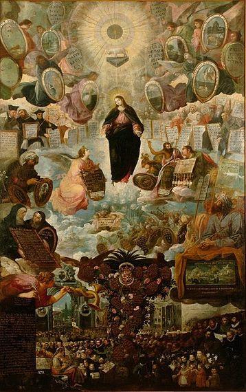 File:Roelas Alegoría de la Inmaculada Concepción Óleo sobre lienzo. 326 x 197 cm. Museo Nacional de Escultura. Valladolid.jpg