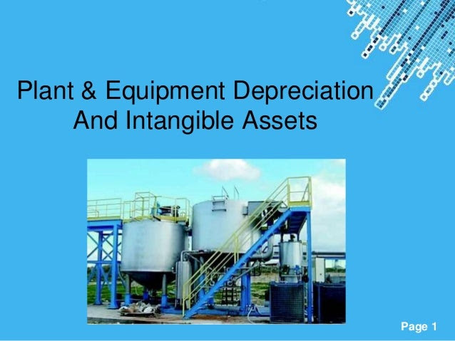 Plant & equipment depreciation and intangible assets