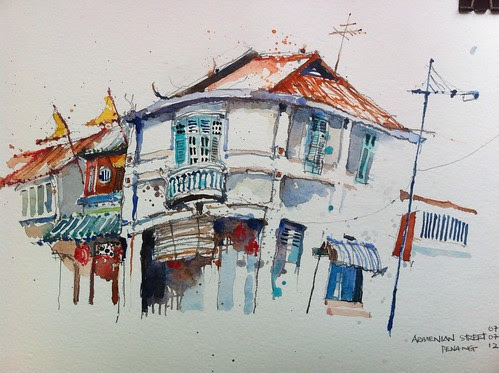 Sketching at Armenian Street Penang