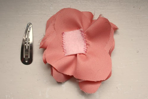 Step 11: Attach Felt to Back of Flower