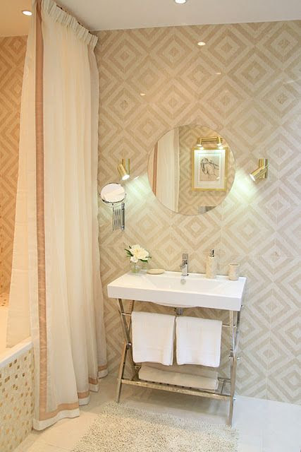 Love this wallpaper!  We have it in our powder room thanks to Laura Casey Interiors!