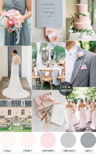 Blush pink and soft gray wedding palette a perfect