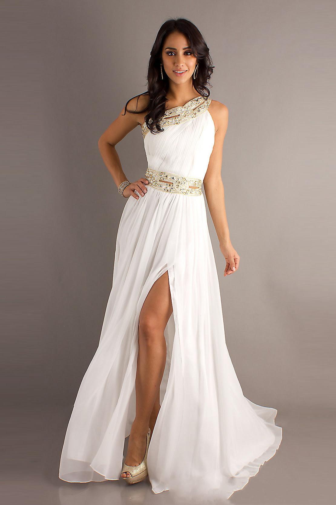 White Dresses: Evening White Dresses