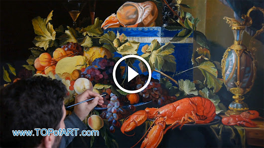 de Heem - Still Life with Fruit and Lobster - Fine Art Painting Reproduction Video by TOPofART.com