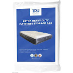 Tru Lite Bedding Heavy Duty Mattress Storage Bag - Extra Thick 4 Mil - Fits Standard, Extra Long, Pillow Top Sizes - Durable for Moving and Long