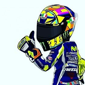 Gambar Helm Racing Animasi