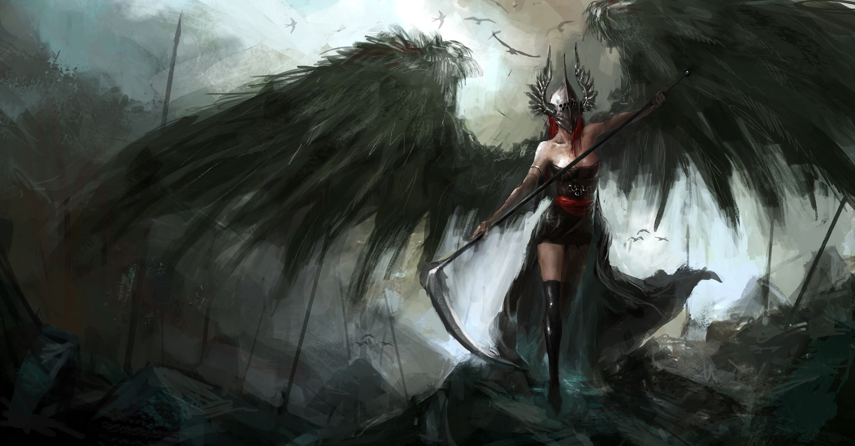 Download Wallpaper Dark Angel Hd Cikimm Com