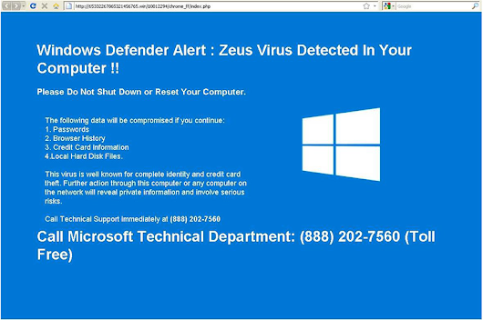 The Latest Virus Scam and How You can Avoid it