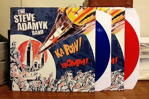 The Steve Adamyk Band - S/T LP (Euro Repress) - Blue Vinyl (/200) & Red Vinyl (/300) by Tim PopKid