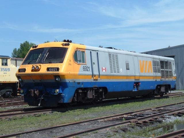 Ex-VIA LRC 6921 at the Canadian Railway Museum
