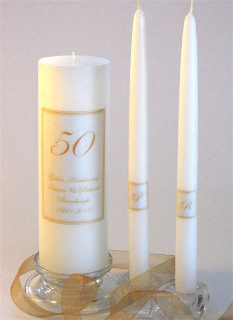 50th Anniversary Candles, Glass Card Boxes & Invitations
