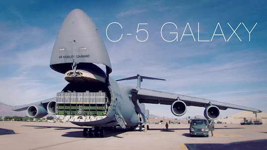 Image: The Largest Plane In The Air Force – C-5 Galaxy Cargo Loading ...