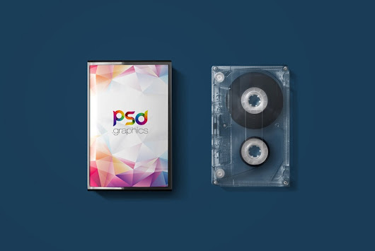 Audio Cassette Cover Mockup Free PSD | PSD Graphics