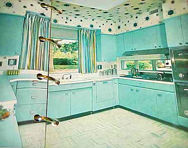 The Fifties Kitchen on turquoise kitchen color ideas, turquoise retro furniture, red retro kitchen ideas, turquoise home decor ideas,