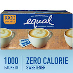 Equal Sweetener, Zero Calorie - 1000 packets [2 lbs 3 oz (1000 g)]