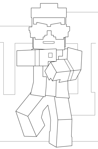 Minecraft Mutant Enderman Coloring Page Free Printable Coloring Pages