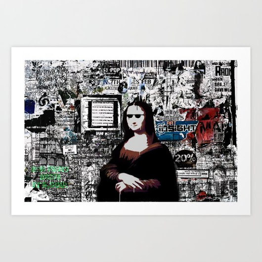 MonaLisa   Art Print by Andy Mercer | Society6
