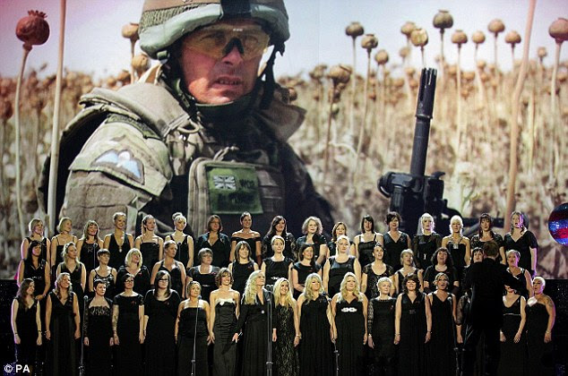 Heart wrenching: The Military Wives performed their single before presenting an award