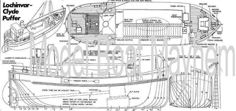 Chapter Model boat plans clyde puffer ~ Feralda