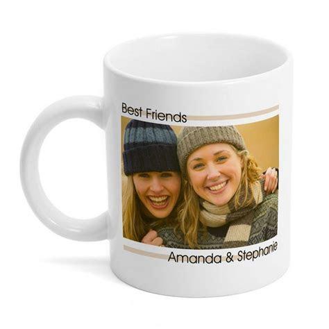 Personalized Best Friends Photo Mug   Customized Coffee