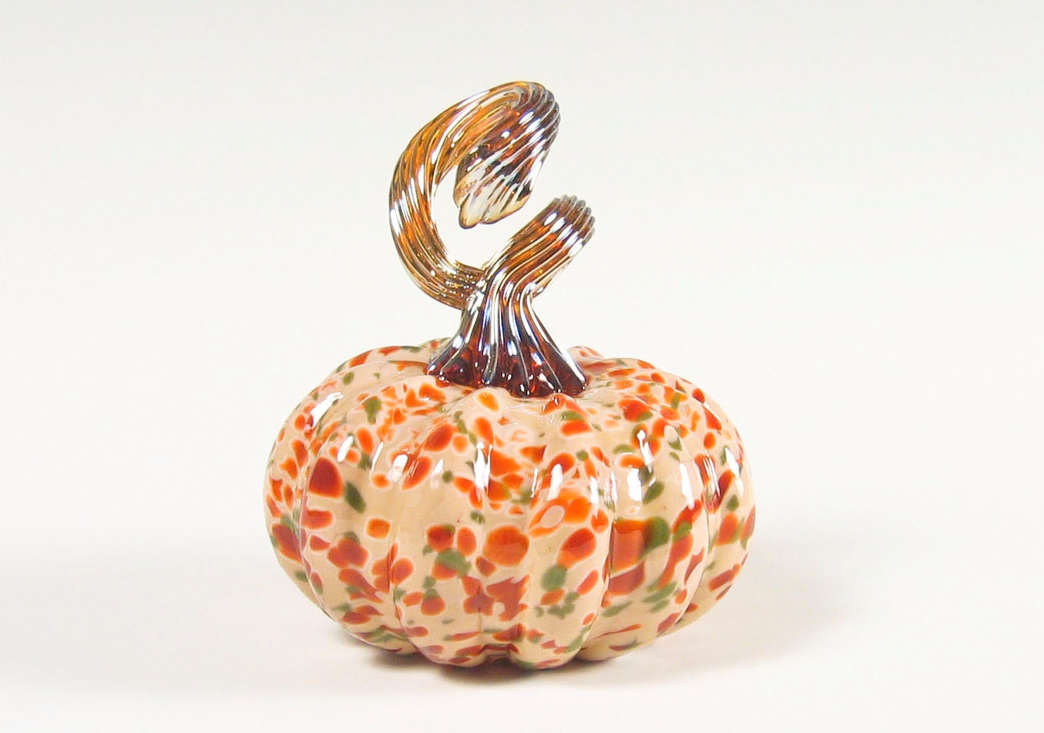 Hand Blown Glass Pumpkin Holiday Home Decor by AvolieGlass on Etsy