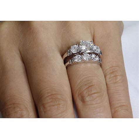 3 Stone Diamond Bridal Sets, Unique Engagement Ring
