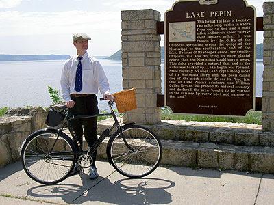 Paul by the Lake Pepin memorial