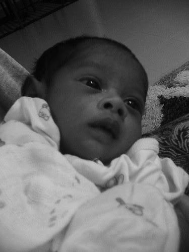 Baby Eryna belajar menyesuaikan diri dengan ketenangan