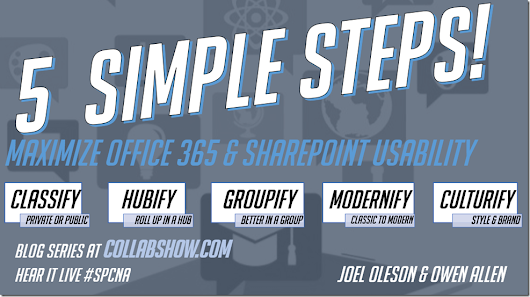 5 Simple Steps to Maximize Office 365 & SharePoint Usability Series
