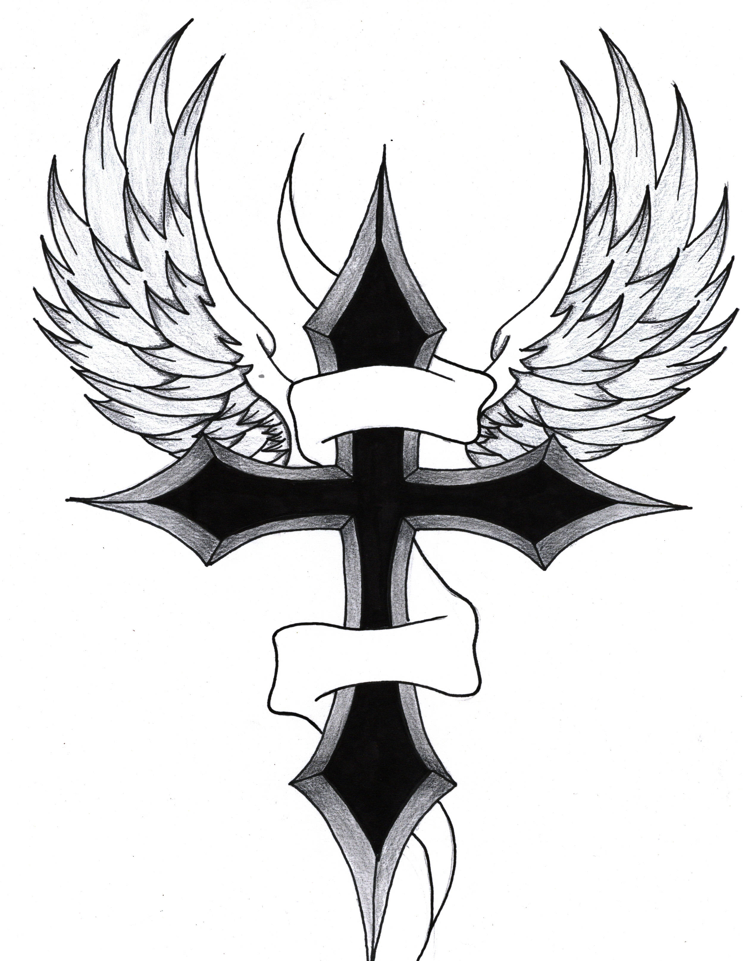 Cross With Wings Clipart Clip Art Library