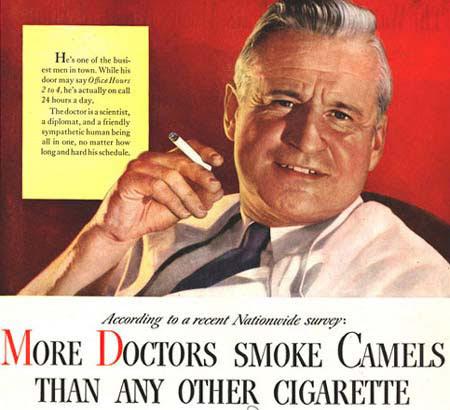 Até os médicos preferem cada vez mais fumar Camel