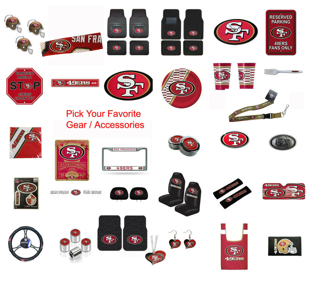 Brand New NFL San Francisco 49ers Pick Your Gear / Accessories Official Licensed  eBay