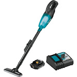 Makita XLC02R1B | 18V LXT Lithium-Ion Compact Cordless Vacuum Kit (2 Ah) in Blue/black | CPO Outlets