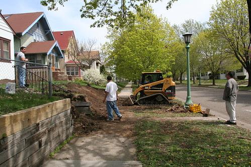 Neighbor Retaining Wall Demo
