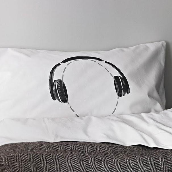 Headphones Pillow Case