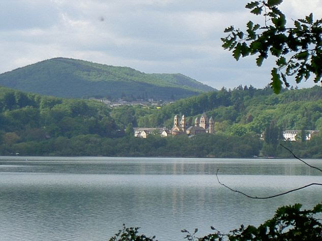 Hidden menace: Laacher See looks tranquil, but beneath its waters lies a volcano that could devastate Europe