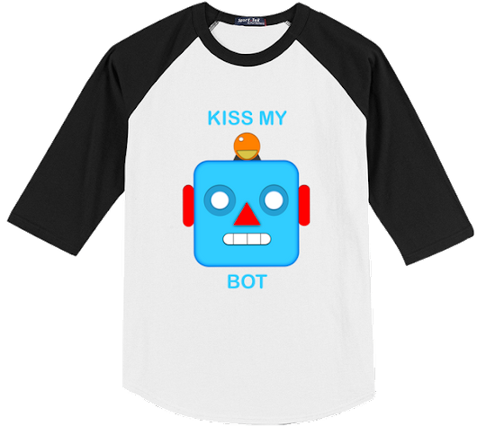 Kiss My Bot Emoji Jersey Shirt
