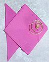Pliage de serviette en papier forme papillon western