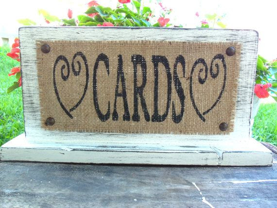 Card Rustic Table, W  CARDS sign Decor, Primitive card  rustic Wedding Gift  SIGN, table,
