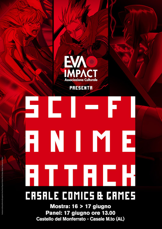 """Sci-Fi Anime Attack"" (panel e mostra) e ""Take my Revolution! Utena 20th Exhibit"" al Casale Comics&Games 2018 - Distopia Evangelion"