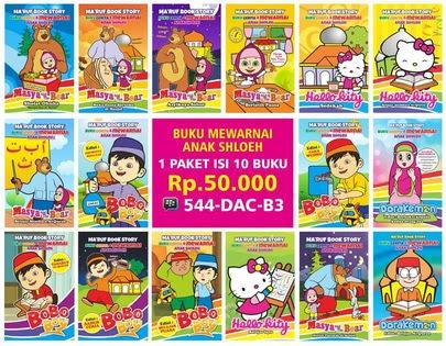 Melayani Pemesanan Buku Belajar Mewarnai Untuk Anak Sholeh Indonesia