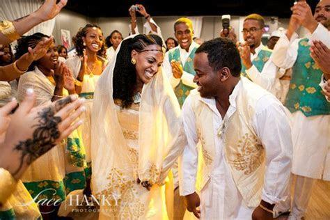 Eritrean wedding! Bride and Groom dancing in Traditional