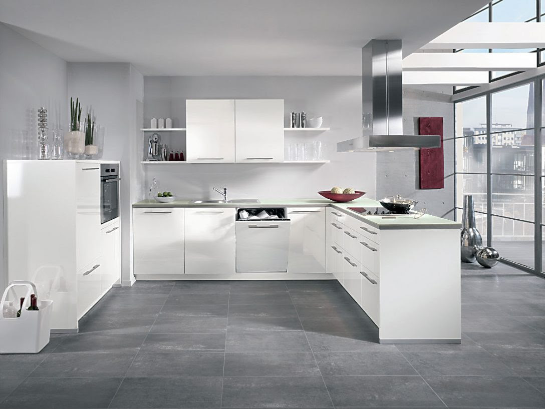 Küche Weiß Grau Arbeitsplatte   Grau Weiße Küche Dunkler ...