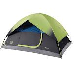 Coleman 4-Person Dark Room Sundome Tent, Green