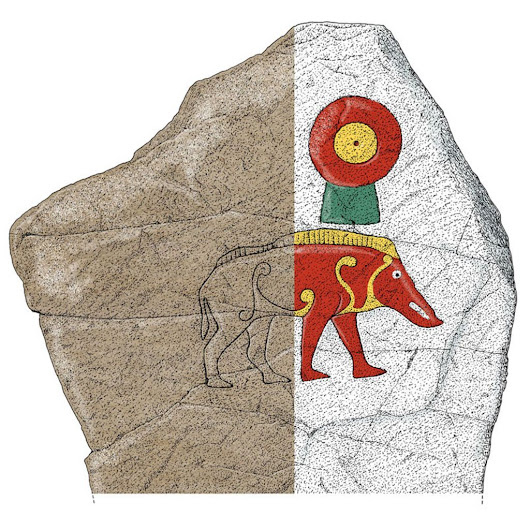 Scotland's carved Pictish stones re-imagined in colour - BBC News