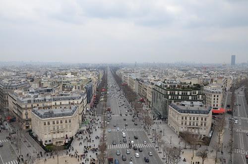 View, Arc de Triomphe