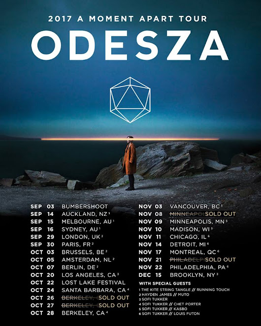 ODESZA Embarks on the A Moment Apart Tour 2017 with Chet Porter, Louis Futon