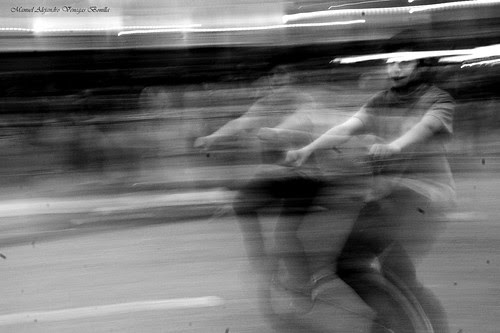 Desde el monociclo, Santiago de Chile. by Alejandro Bonilla