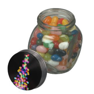 Blurred Christmas Lights Jelly Belly Candy Jar