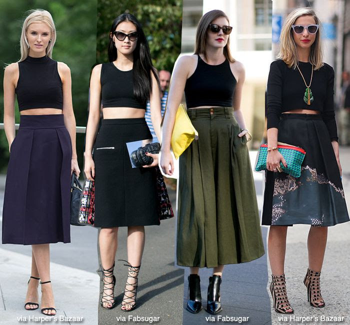 How to Wear: Cropped Top + Midi Skirt